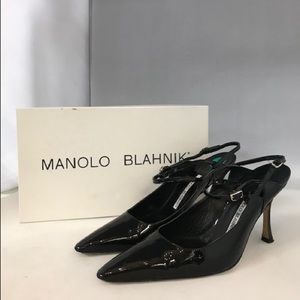Manolo Blahnik Patent Leather Slingback